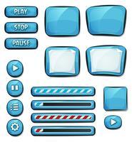 Elementos de diamantes dos desenhos animados para jogo de interface do usuário vetor