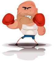 Campeão de boxer com raiva dos desenhos animados vetor