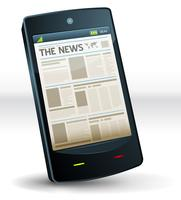 Jornal dentro do bolso do telefone móvel vetor