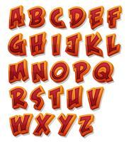 Conjunto de Fontes de Alfabeto de Quadrinhos vetor