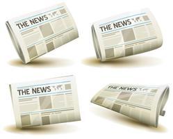 Conjunto de ícones de jornal vetor