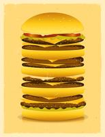 hambúrguer super grande vetor