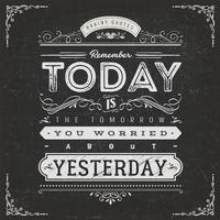Poster de citações de motivação caligráfico vintage
