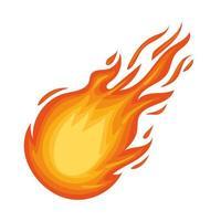 ícone de bola de fogo caindo vetor