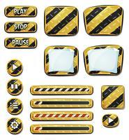 Ícones de aviso e elementos para o jogo de interface do usuário