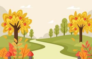 fundo de paisagem de outono vetor