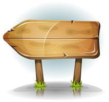 Seta de sinal de madeira em quadrinhos vetor