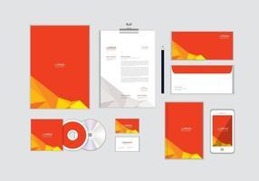 O modelo de identidade corporativa para o seu negócio inclui capa de CD, cartão de visita, pasta, envelope e designs de papel timbrado no. 13 vetor