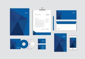 O modelo de identidade corporativa para o seu negócio inclui capa de CD, cartão de visita, pasta, envelope e designs de cabeçalho de papel nº 10 vetor