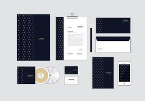 O modelo de identidade corporativa para o seu negócio inclui capa de CD, cartão de visita, pasta, envelope e designs de cabeçalho de papel nº 12 vetor