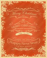 Fundo retrô de feliz Natal vetor