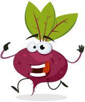 Personagem de beterraba feliz dos desenhos animados vetor