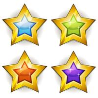 Ícones engraçados estrelas para o jogo de interface do usuário vetor