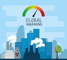 cidade industrial poluente vetor