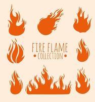 quadro de chamas de fogo vetor