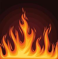 pôster chama de fogo vetor