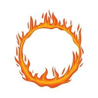 círculo de chamas de fogo vetor
