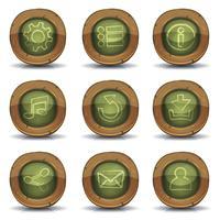 Ícones de lousa de escola para jogo de interface do usuário