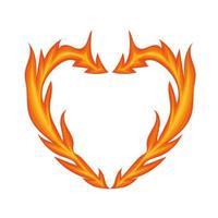 coração chama de fogo vetor