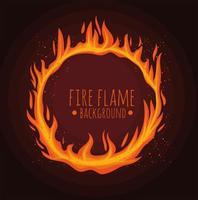 letras de chamas em círculo vetor