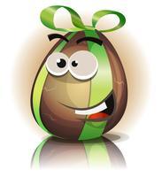 Personagem de ovo de Páscoa de Chocolate dos desenhos animados