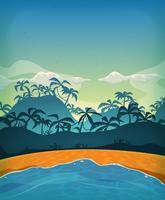 Ilha tropical do deserto de verão