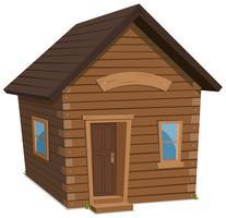 Estilo de vida da casa de madeira vetor