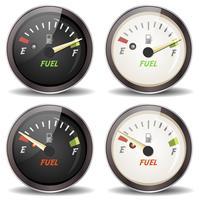 Conjunto de ícones de medidor de combustível vetor