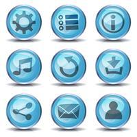 Ícones e botões para o jogo de interface do usuário