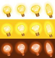 Conjunto de lâmpada vetor