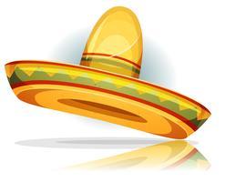 Sombrero mexicano vetor