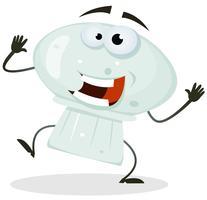Personagem de desenho animado feliz cogumelo vetor
