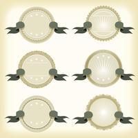 Emblemas Do Vintage, Banners E Fitas vetor