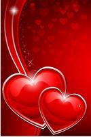 Coração dos namorados vetor