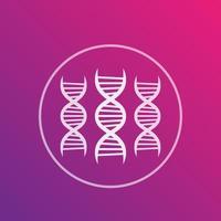 ícone de vetor de DNA