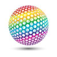 Bola colorida vetor