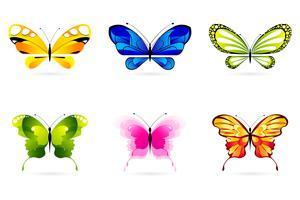 Conjunto de borboletas vetor