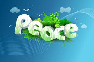 Paz vetor
