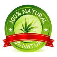 Tag natural de 100% vetor