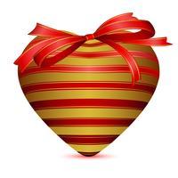 Coração embrulhado com fita