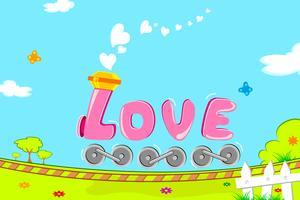 Trem amor vetor