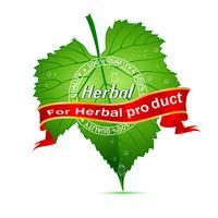 Tag Herbal vetor