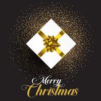 Presente de Natal em fundo de glitter vetor