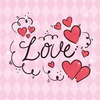 cartão de feliz dia dos namorados com caligrafia de amor vetor