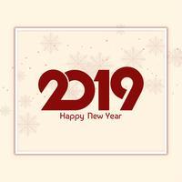 Fundo abstrato bonito feliz ano novo 2019 vetor