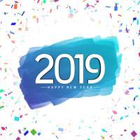 Fundo elegante moderno de ano novo 2019 vetor