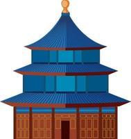 pagode arquitetura chinesa antiga isolada vetor