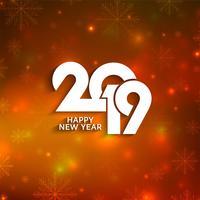 Elegante feliz ano novo 2019 fundo de saudação vetor
