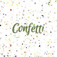 Fundo decorativo abstrato confete colorido vetor