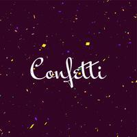 Fundo abstrato decorativo colorido confete vetor